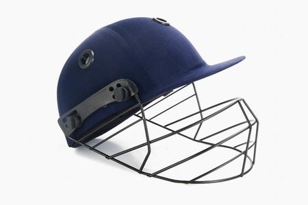 cricket helmet: Close-up of a cricket helmet