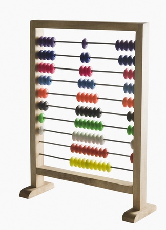 Close-up of an abacus photo