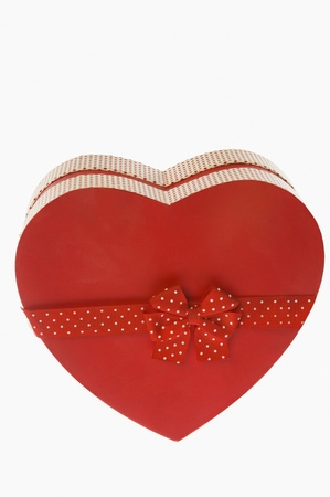 Close-up of a heart shaped gift box photo