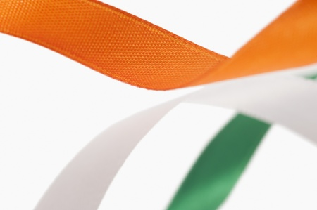 indian flag: Ribbons representing Indian flag colors Stock Photo