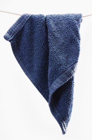 Close-up of a towel drying on a clothesline