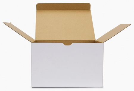Close-up of a cardboard box