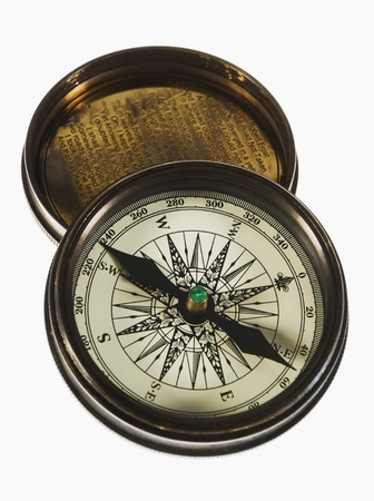 Close-up of a compass