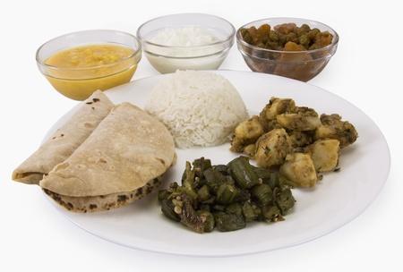 Close-up of Indian food