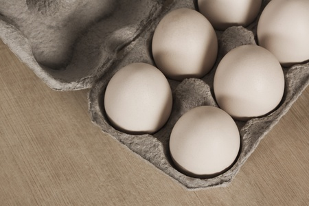 Close-up of a carton of eggs Stock Photo - 10237967