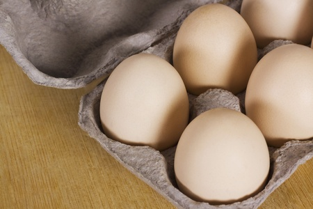 Close-up of a carton of eggs Stock Photo - 10238715
