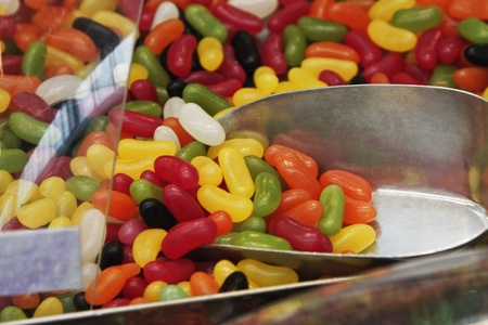 jellybean: Close-up of multi-colored jellybeans at a market stall
