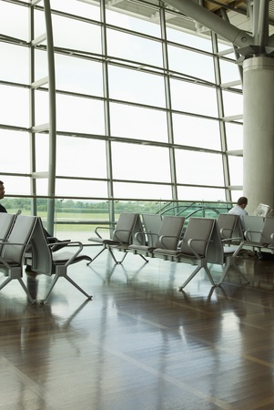 Chairs in an airport lounge, Cork Airport, Cork, County Cork, Republic of Ireland photo