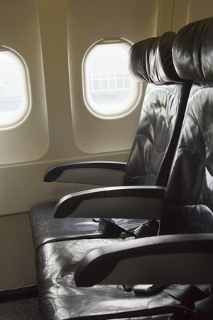 absence: Seats in an airplane, Cork Airport, Cork, County Cork, Republic of Ireland