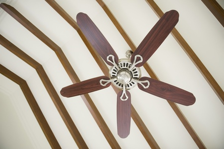 karnataka: Low angle view of a ceiling fan, Bangalore, Karnataka, India