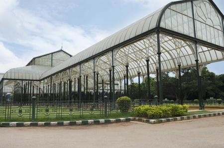 Glass house in a botanical garden, Lal Bagh Botanical Garden, Bangalore, Karnataka, India