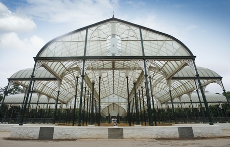 karnataka: Glass house in a botanical garden, Lal Bagh Botanical Garden, Bangalore, Karnataka, India