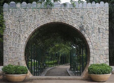 Entrance gate of a botanical garden, Lal Bagh Botanical Garden, Bangalore, Karnataka, India