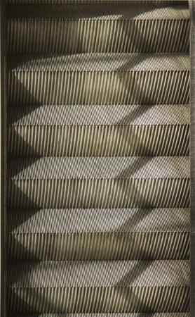 Steps of an escalator, Paris, France Banco de Imagens