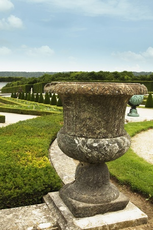 Formal garden, Chateau de Versailles, Versailles, Paris, France photo