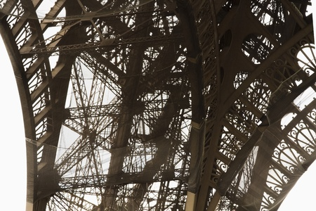 Low angle view of a tower, Eiffel Tower, Paris, France Imagens