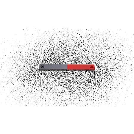 Ijzervijlsel rond een magneet