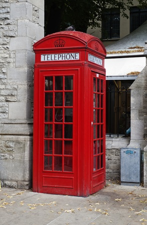 Telephone booth on a street, Oxford, Oxfordshire, England photo