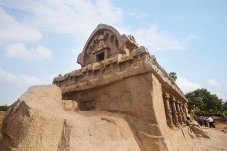 Ancient Pancha Rathas temple at Mahabalipuram, Kanchipuram District, Tamil Nadu, India