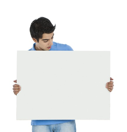 Man looking at a whiteboard photo