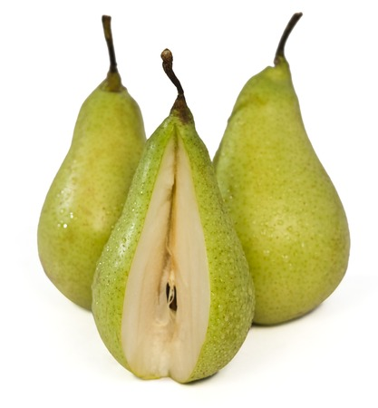 missing bite: Close-up of pears with missing bite