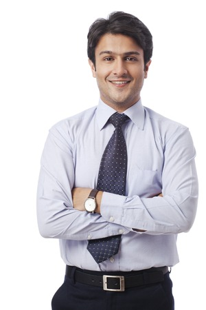 Portrait of a businessman smiling Imagens