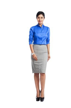 Portret van een zakenvrouw glimlachen Stockfoto