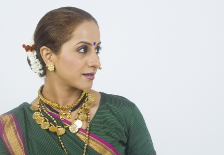 smirking: Close-up of a woman smirking Stock Photo