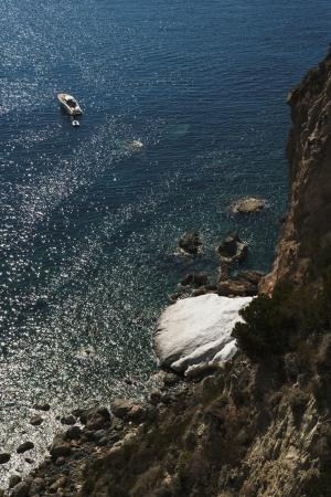 tyrrhenian: Rock formations in sea, Ponza, Tyrrhenian Sea, Province Of Latina, Lazio, Italy