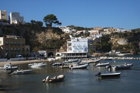 tyrrhenian: Boats at a harbor, Ponza, Tyrrhenian Sea, Province Of Latina, Lazio, Italy