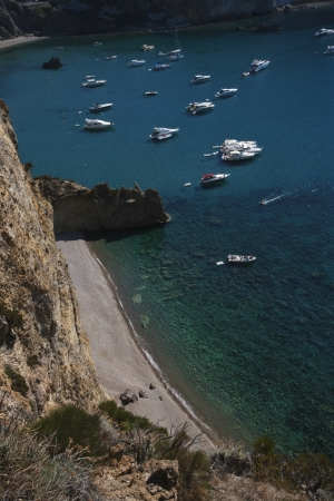 tyrrhenian: Boats in the sea, Ponza, Tyrrhenian Sea, Province Of Latina, Lazio, Italy