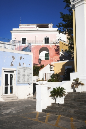 Buildings in a town, Ponza, Province Of Latina, Lazio, Italy Stock Photo