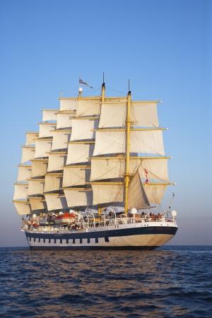 tyrrhenian: Clipper ship in a sea, Ponza, Tyrrhenian Sea, Province Of Latina, Lazio, Italy