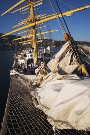 tyrrhenian: Clipper ship in the sea, Sorrento, Tyrrhenian Sea, Campania, Italy