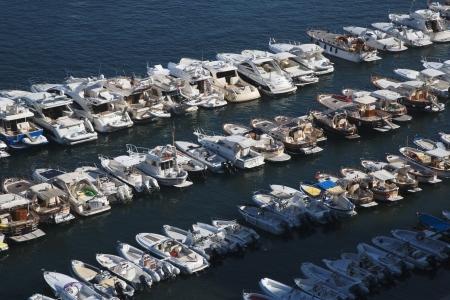 tyrrhenian: Boats at a harbor, Sorrento, Tyrrhenian Sea, Campania, Italy
