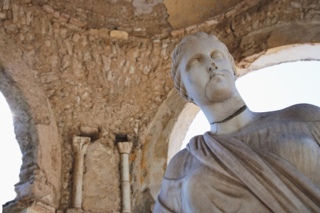 Ruins of a statue, Amalfi, Province Of Salerno, Campania, Italy