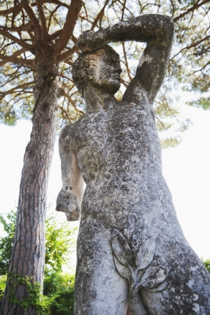 naked statue: Naked statue in a garden, Amalfi, Province Of Salerno, Campania, Italy