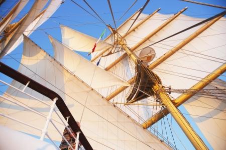 tyrrhenian: Sail of a clipper ship, Amalfi, Province Of Salerno, Gulf Of Salerno, Tyrrhenian Sea, Campania, Italy