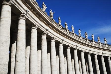 Low angle view of Berninis Column, St. Peters Square, Vatican City Reklamní fotografie