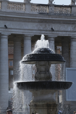 Fountain at St. Peters Square, Vatican City