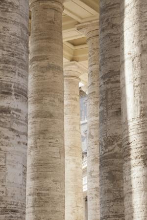 Details of columns, St. Peters Square, Vatican City