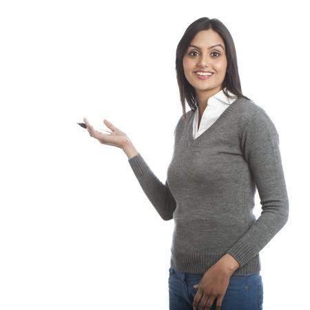 Businesswoman writing with a felt tip pen