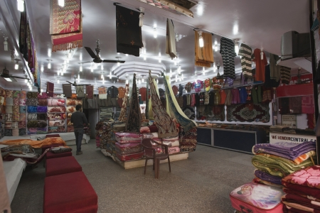 Interiors of a clothing store, Jammu And Kashmir, India