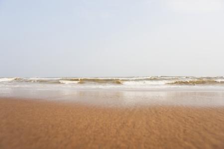 puri: Waves on the beach, Puri, Orissa, India Stock Photo