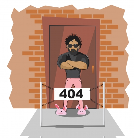 Illustrative representation of no entry for stags Banco de Imagens - 25094140