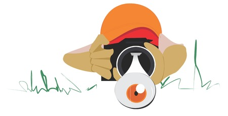 Illustrative representation of eye popping photography Vector