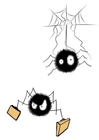 Illustrative representation of wandering spiders Stock fotó - 25094156