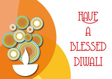 Diwali greeting isolated on white background