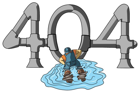 Illustrative representation of a plumber fixing the pipes Vector