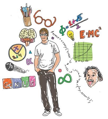 Illustrative representation of geek sighted
